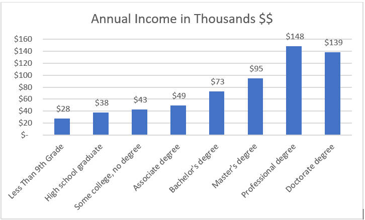 Annual income graph